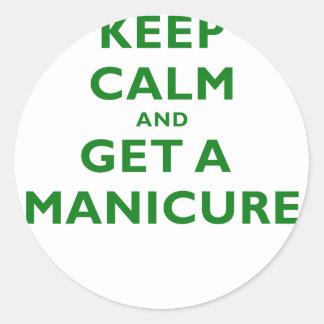 Guarde la calma y consiga una manicura etiquetas