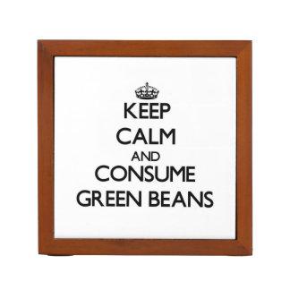 Guarde la calma y consuma las habas verdes
