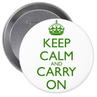 Guarde la calma y continúe a Británicos que compit Pin