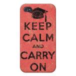 Guarde la calma y continúe al graduado iPhone 4 cárcasa