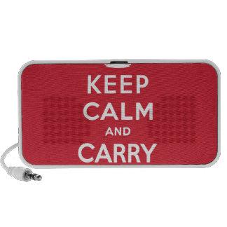 Guarde la calma y continúe altavoz de viaje