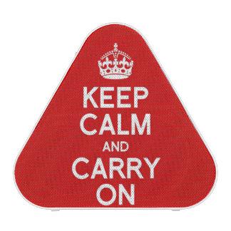 Guarde la calma y continúe altavoz