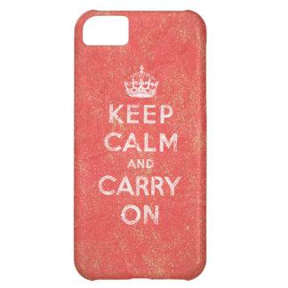 Guarde la calma y continúe carcasa iPhone 5C