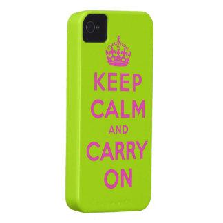 guarde la calma y continúe carcasa para iPhone 4 de Case-Mate