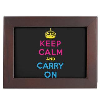guarde la calma y continúe - CMYK Caja De Recuerdos