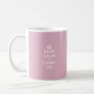 Guarde la calma y continúe color de rosa persa taza