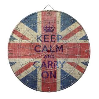 Guarde la calma y continúe con el Dartboard BRITÁN Tablero Dardos