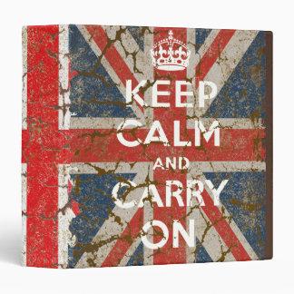 Guarde la calma y continúe con la bandera BRITÁNIC