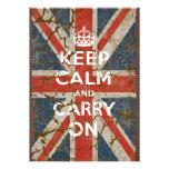Guarde la calma y continúe con la bandera BRITÁNIC Anuncios