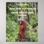 Guarde la calma y continúe con la fauna animal poster