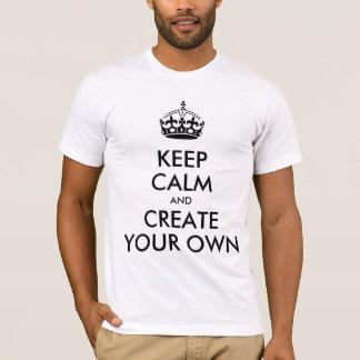Guarde la calma y continúe crean su propio negro playera