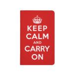 Guarde la calma y continúe cuadernos