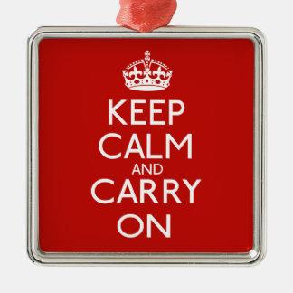 Guarde la calma y continúe adorno para reyes