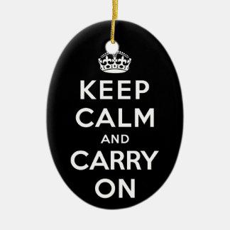 Guarde la calma y continúe adorno