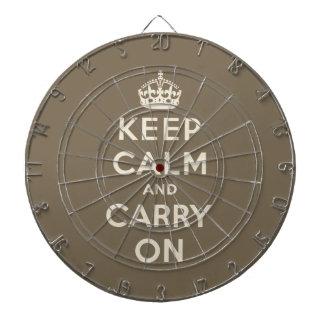 Guarde la calma y continúe tablero de dardos
