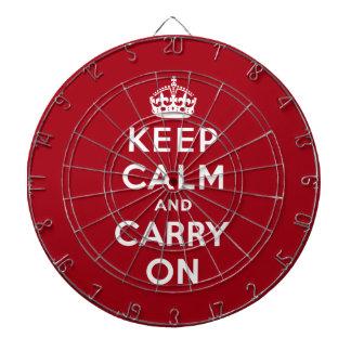 Guarde la calma y continúe tablero dardos