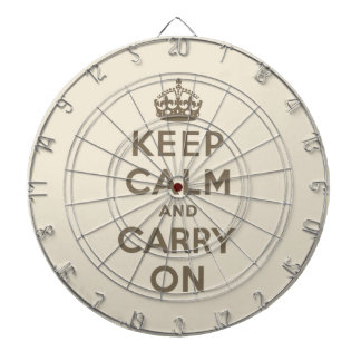 Guarde la calma y continúe tabla dardos