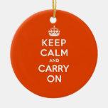 Guarde la calma y continúe el bermellón ornamentos para reyes magos