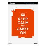 Guarde la calma y continúe el bermellón iPad 3 pegatinas skins