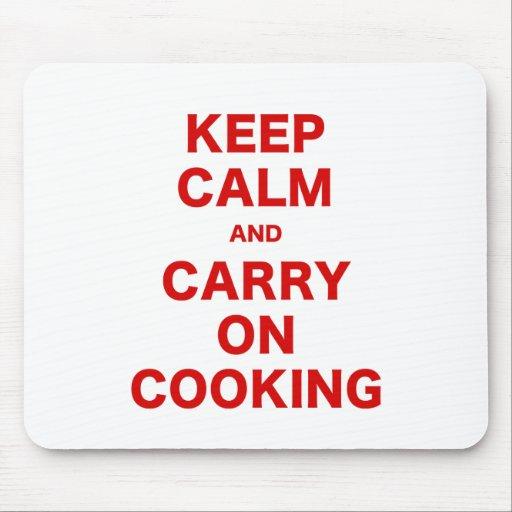 Guarde la calma y continúe el cocinar alfombrilla de ratones