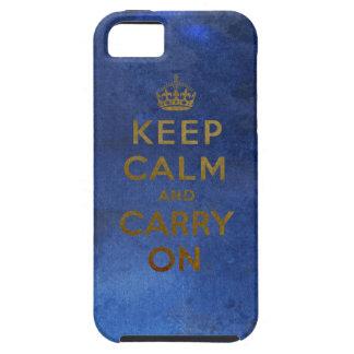 Guarde la calma y continúe el diseño del vintage funda para iPhone SE/5/5s