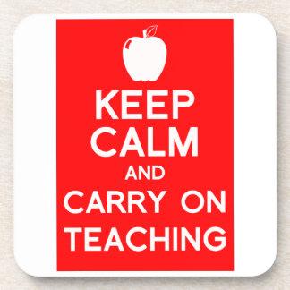 Guarde la calma y continúe el enseñar del práctico posavasos