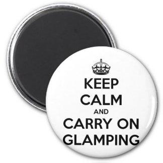Guarde la calma y continúe el glampling imán redondo 5 cm