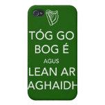 Guarde la calma y continúe el IRLANDÉS iPhone 4 Carcasas