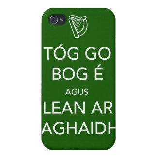 Guarde la calma y continúe el IRLANDÉS iPhone 4/4S Fundas