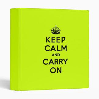 Guarde la calma y continúe el negro en chartreuse