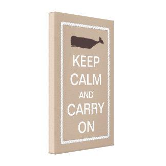 Guarde la calma y continúe el tema náutico de la b lona envuelta para galerias