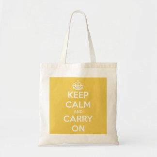 Guarde la calma y continúe el tote reutilizable am