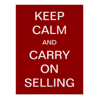 Guarde la calma y continúe el vender póster