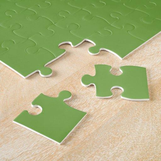 Guarde la calma y continúe el verde esmeralda puzzle