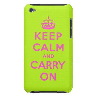 guarde la calma y continúe iPod touch Case-Mate carcasa