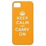 Guarde la calma y continúe iPhone 5 Case-Mate carcasa