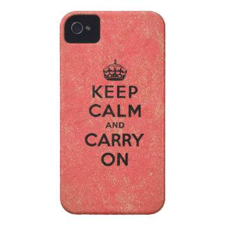 Guarde la calma y continúe iPhone 4 Case-Mate cobertura
