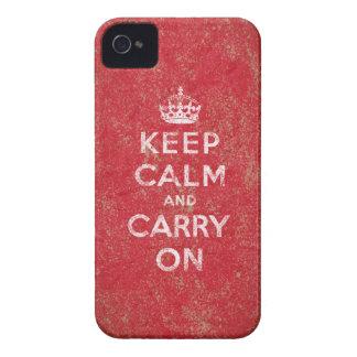 Guarde la calma y continúe iPhone 4 Case-Mate cárcasas