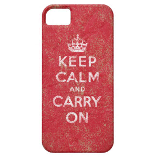 Guarde la calma y continúe iPhone 5 Case-Mate cárcasa