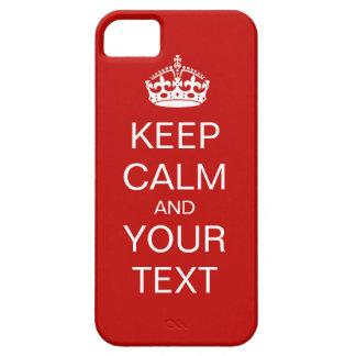 Guarde la calma y continúe iPhone 5 carcasa