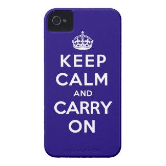 Guarde la calma y continúe iPhone 4 carcasa