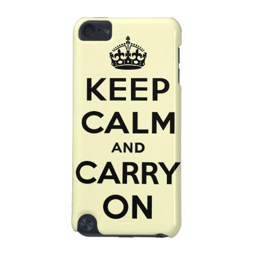 Guarde la calma y continúe funda para iPod touch 5G