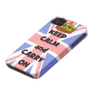 guarde la calma y continúe Case-Mate iPhone 4 carcasas
