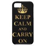 Guarde la calma y continúe iPhone 5 Case-Mate coberturas