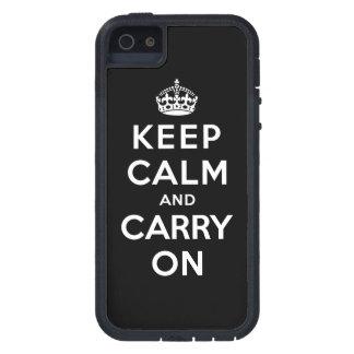 Guarde la calma y continúe iPhone 5 protectores