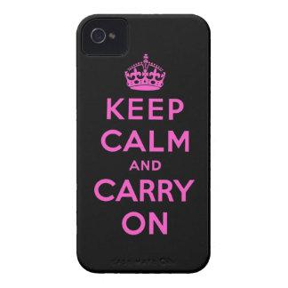 guarde la calma y continúe iPhone 4 Case-Mate coberturas