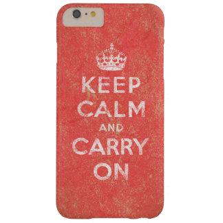 Guarde la calma y continúe funda barely there iPhone 6 plus