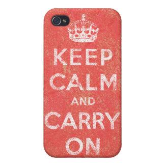 Guarde la calma y continúe iPhone 4/4S carcasas