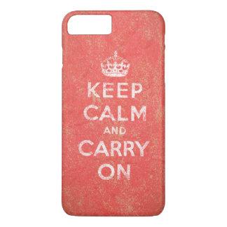 Guarde la calma y continúe funda iPhone 7 plus