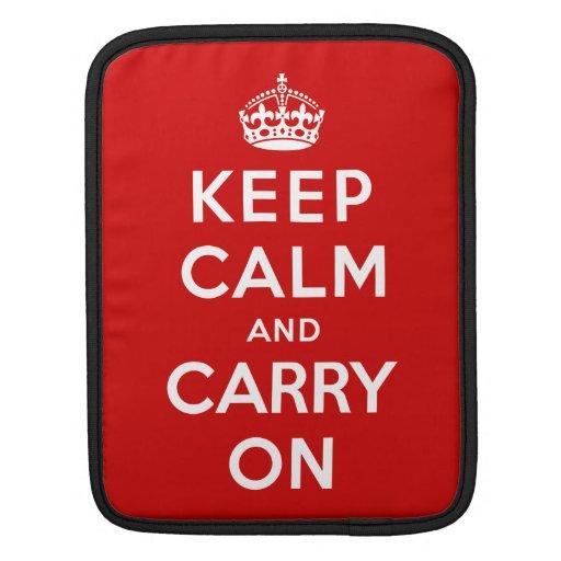 Guarde la calma y continúe funda para iPads